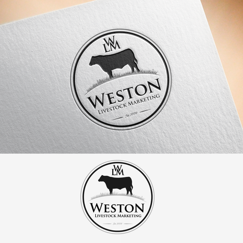 Livestock logo with the title 'Winning Logo for Weston Livestock Marketing'
