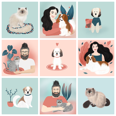 Illustrations for a pet brand
