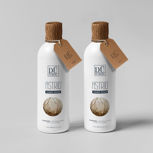 Clean label with the title 'Packaging design for hand soap'