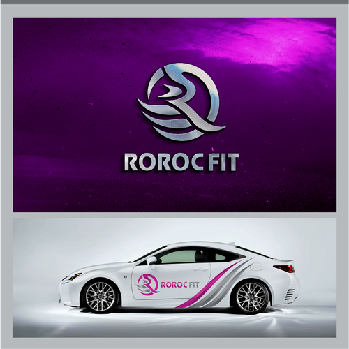 R logo with the title 'logo fitness'
