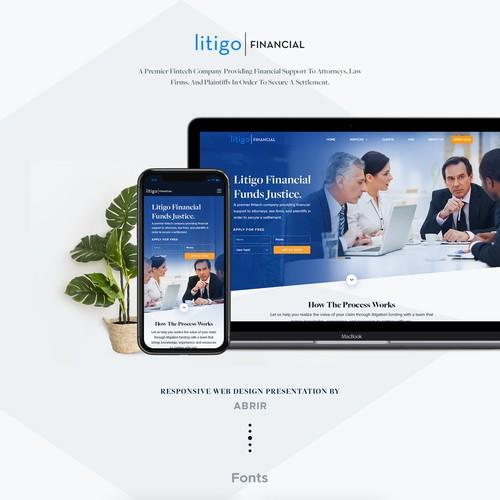 Bold website with the title 'Professional Design For Litigo Financial.'
