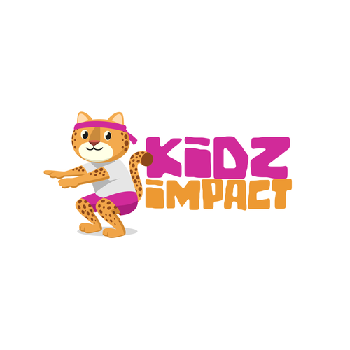 Cheetah logo with the title 'Kids Impact Logo Concept'
