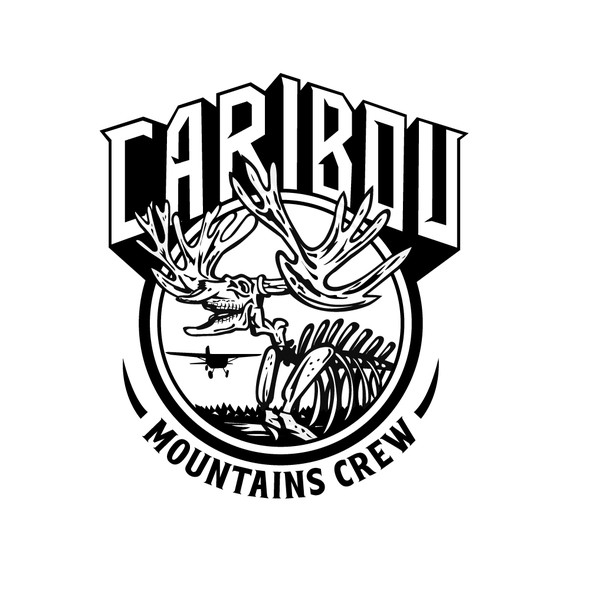 Skeleton t-shirt with the title 'Caribou Mountain Crew'