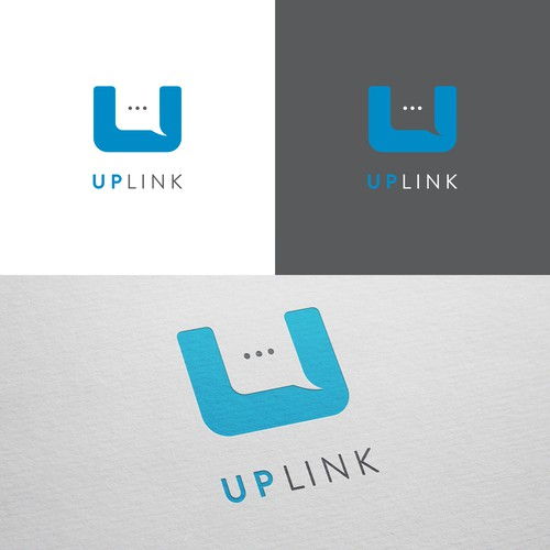Messaging logo with the title 'Minimal logo concept for Uplink'