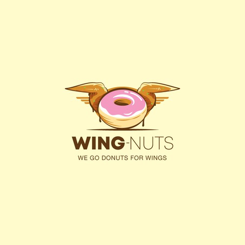Donut logo with the title 'Wing-Nuts Logo'