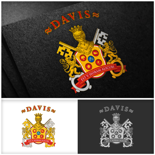 Crest artwork with the title 'Crest design for Davis family'