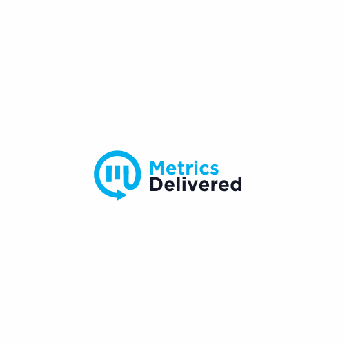 Mailbox logo with the title 'Logo design for Metrics Delivered'