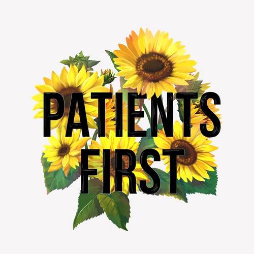 Realistic design with the title 'Patients first'