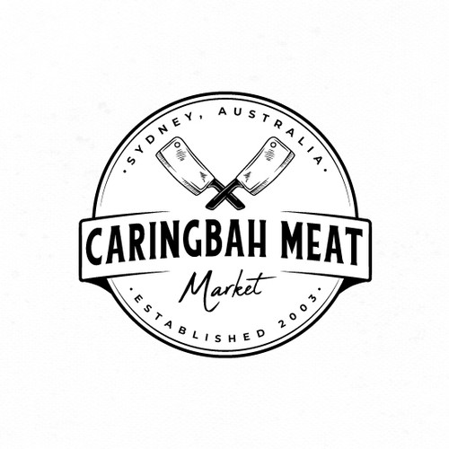 Market logo with the title 'Vintage logo for Meat Market. '