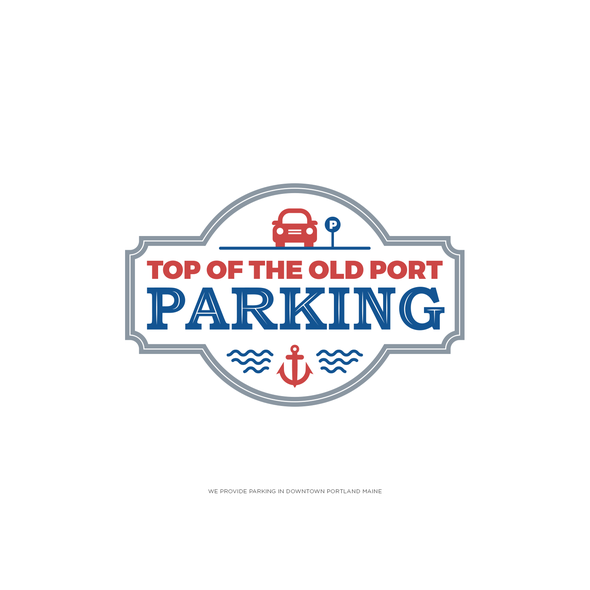 Parking logo with the title 'Parking Lot Logo'