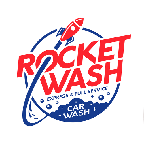 Car wash design with the title 'logo design for full service and express care car wash.  '