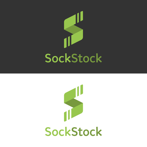 Folded design with the title 'Geometric logo for online sock shop'