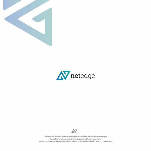 Network brand with the title 'Logo design for NetEdge'