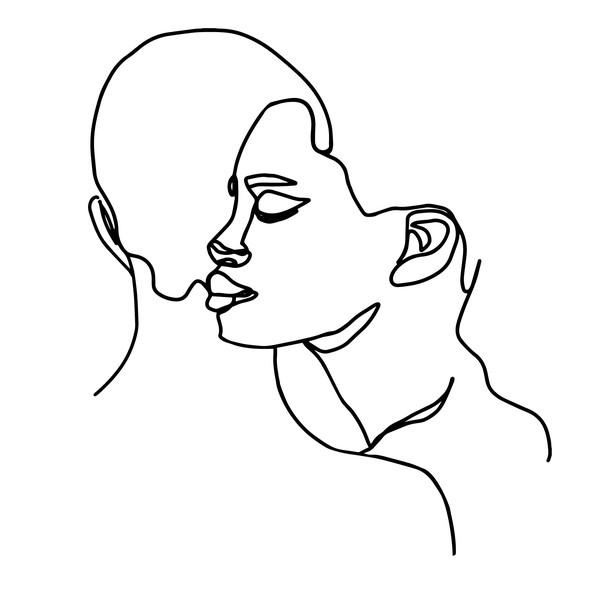 Minimalist illustration with the title 'Line Illustration for website '