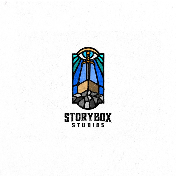 Stone logo with the title 'Storybox Studios'