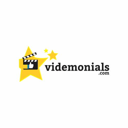 Rating logo with the title 'Clapper logo concept for VideMonials'