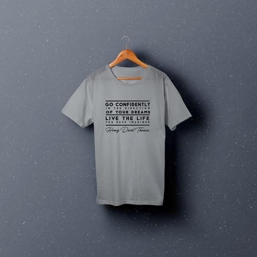 Text t-shirt with the title 'T-Shirt design'