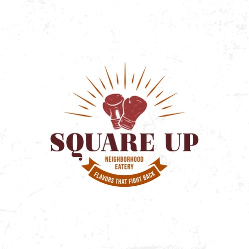 Pizza box design with the title 'Square Up'