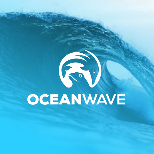 Dolphin logo with the title 'Ocean Wave'