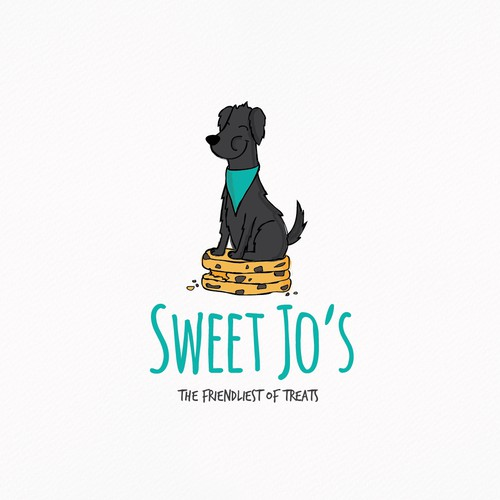 Doberman logo with the title 'Loving character logo for a bakery'
