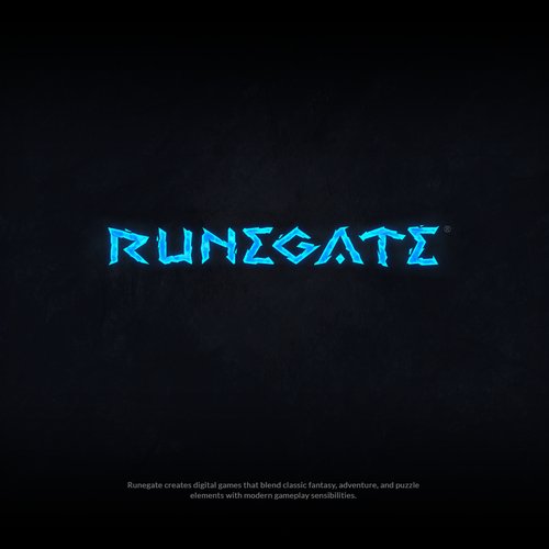 Frozen food logo with the title 'Runegate gaming logo design'