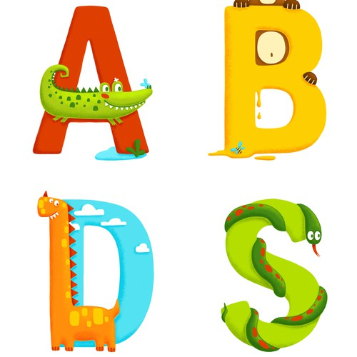 Alphabet design with the title 'alphabet'
