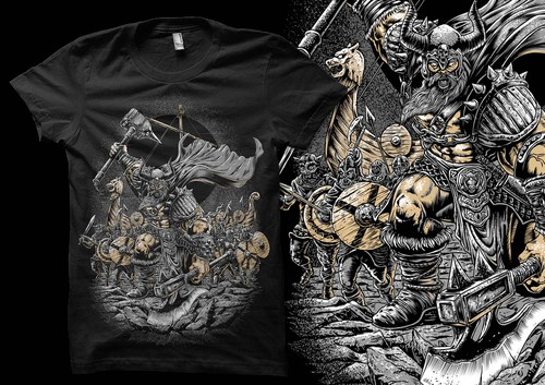Passion design with the title 'Viking Raid t shirt artwork'