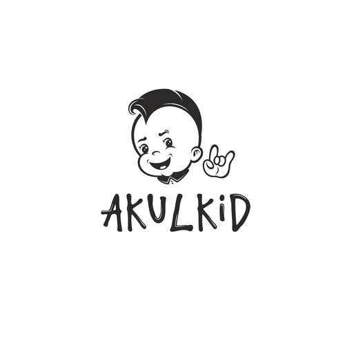 Cheeky design with the title 'AKULKID'