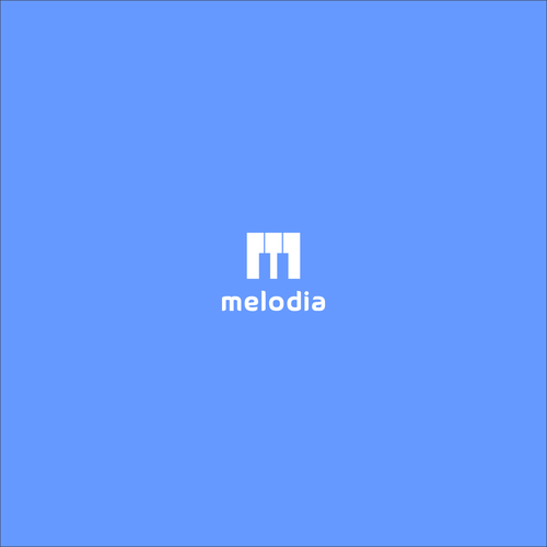 Course logo with the title 'Logo concept for melodia'