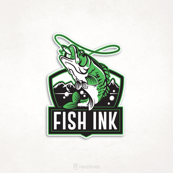 Spring design with the title 'Fish Ink'