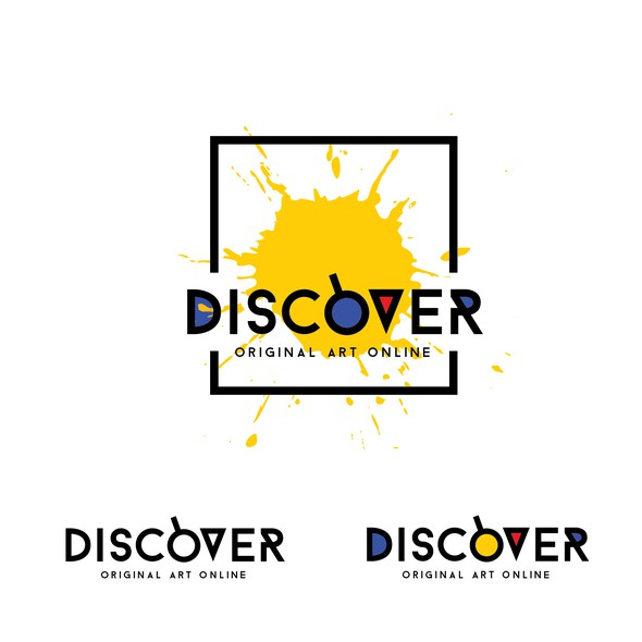 CMYK design with the title 'Discover - original art online'
