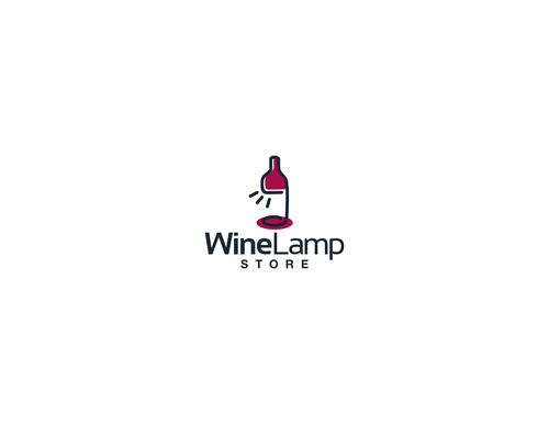 Lamp logo with the title 'Wine Lamp Store Logo!  needs a unique logo for its online store!'