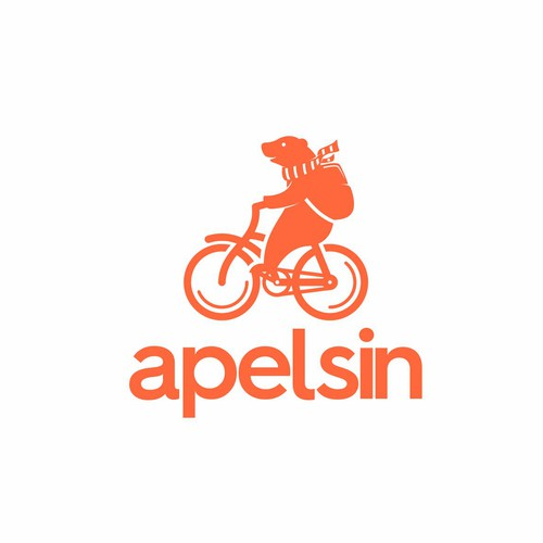 Russian design with the title 'apelsin logo'