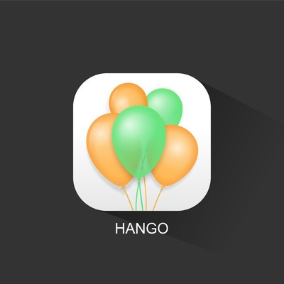 HANGO app icon re-design! App to make events easier for groups!