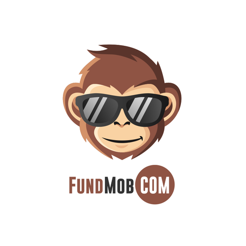 Monkey design with the title 'fundmob.com'