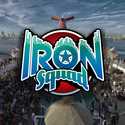 Fantastic design with the title 'SUPERHERO LOGO for IronSquad - 2nd and final version'
