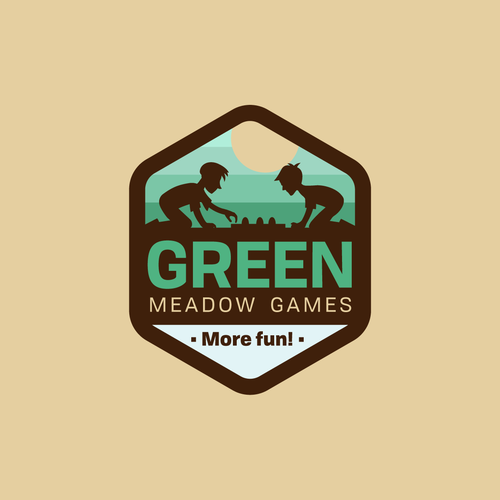 Toy shop logo with the title 'Green Meadow Games'