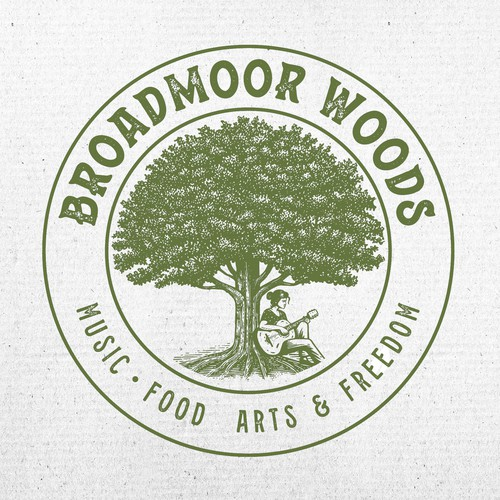 Musician logo with the title 'Broadmoor Woods Logo Design'
