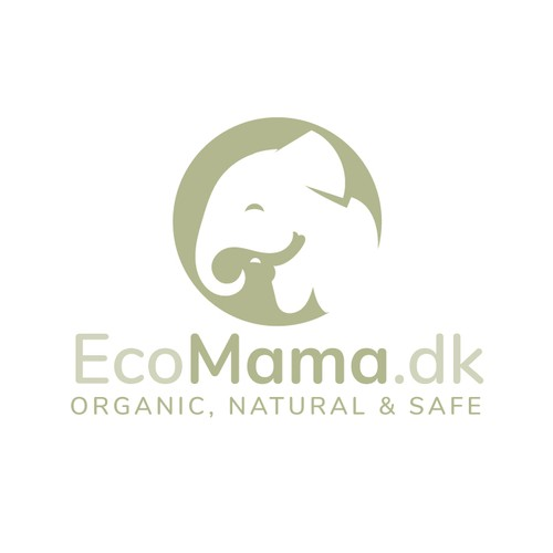 Eco logo with the title 'Babies Products Logo'