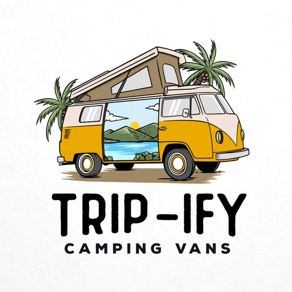 Trippy design with the title 'Logo Design for Camper van company called Trip-ify'