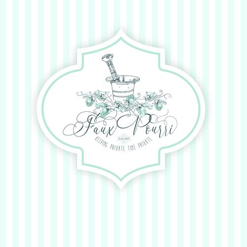 Doodle logo with the title 'Faux Pourri'