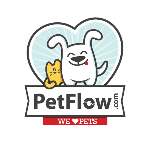 Pet design with the title 'Cat & Dog logo'