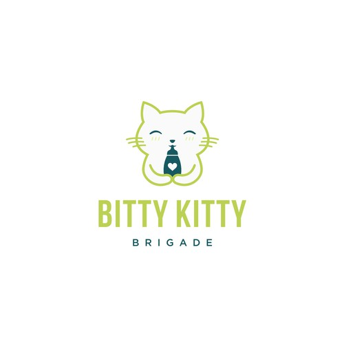 Kitty logo with the title 'Bitty Kitty Logo'