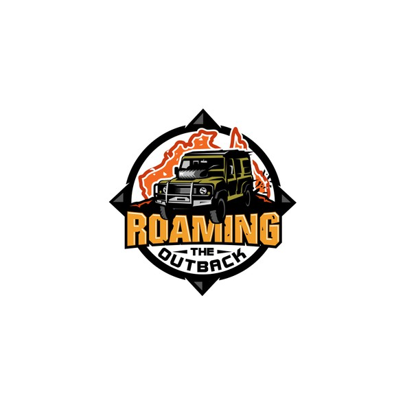 Jeep logo with the title 'Roaming The Outback'
