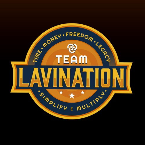 Yellow logo with the title 'Team Lavination'