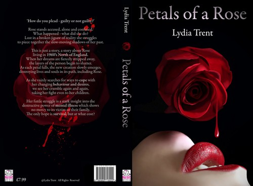 Erotic book cover with the title 'Book Cover for Fiction Novel 'Petals of a Rose''