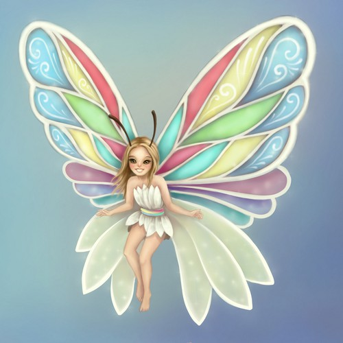 Girly artwork with the title 'fantasy illustration'
