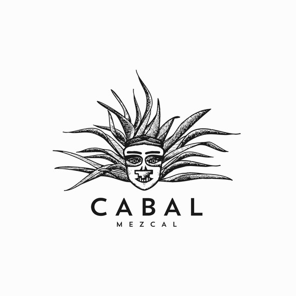 Agave logo with the title 'Illustrative logo design for tequila & mezcal'
