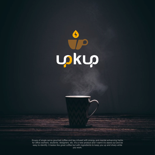 Coffee bar design with the title 'logo for brand upkup coffee and tea '