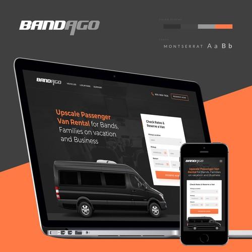 Van design with the title 'BANDAGO'
